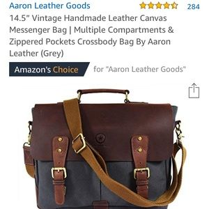 "09a060272c2c Aaron Leather Goods 14.5"" Handmade Messenger Bag"
